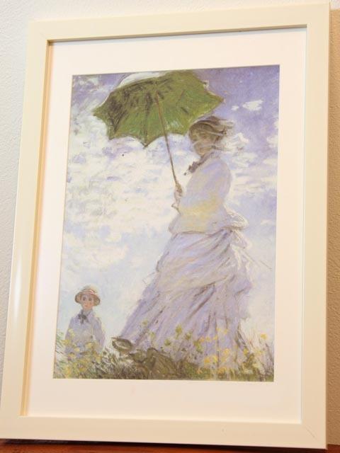 アートプリント布地★モネ★日傘をさす女