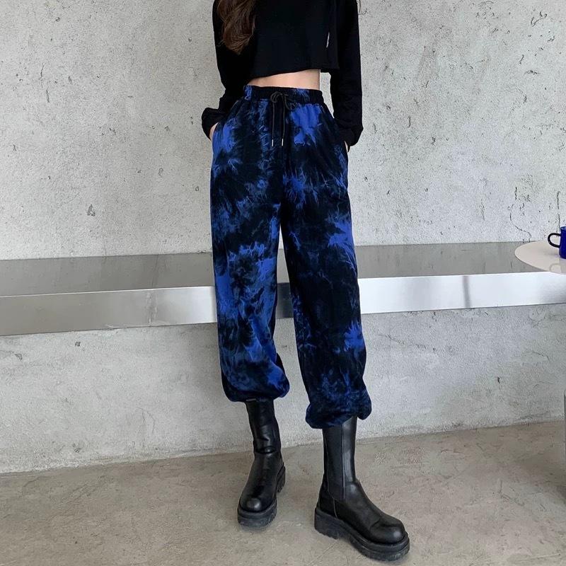 blue marble pants