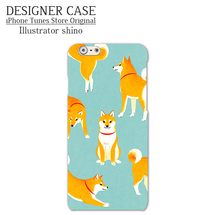 iPhone6 Soft case[shibaken color] Illustrator:shino