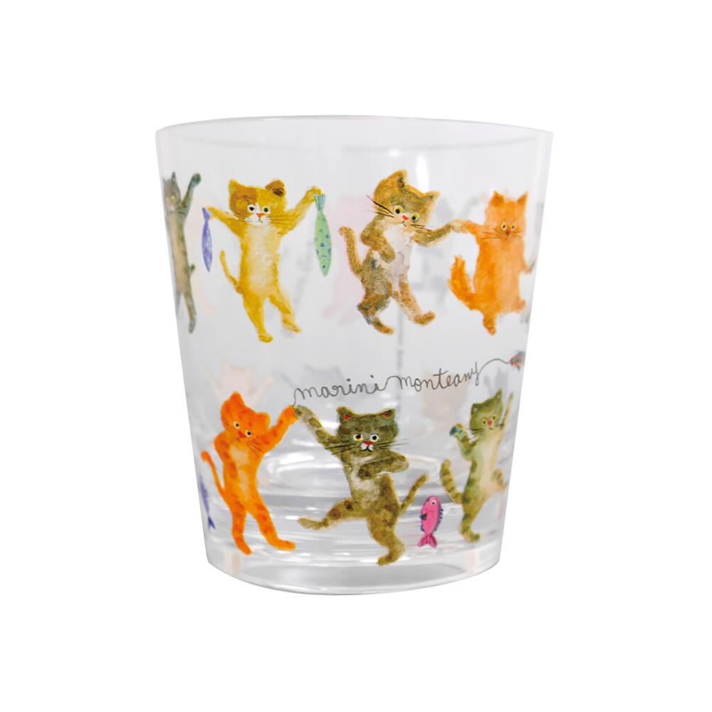 猫タンブラー(エクートミネットクリアタンブラー)ダンス