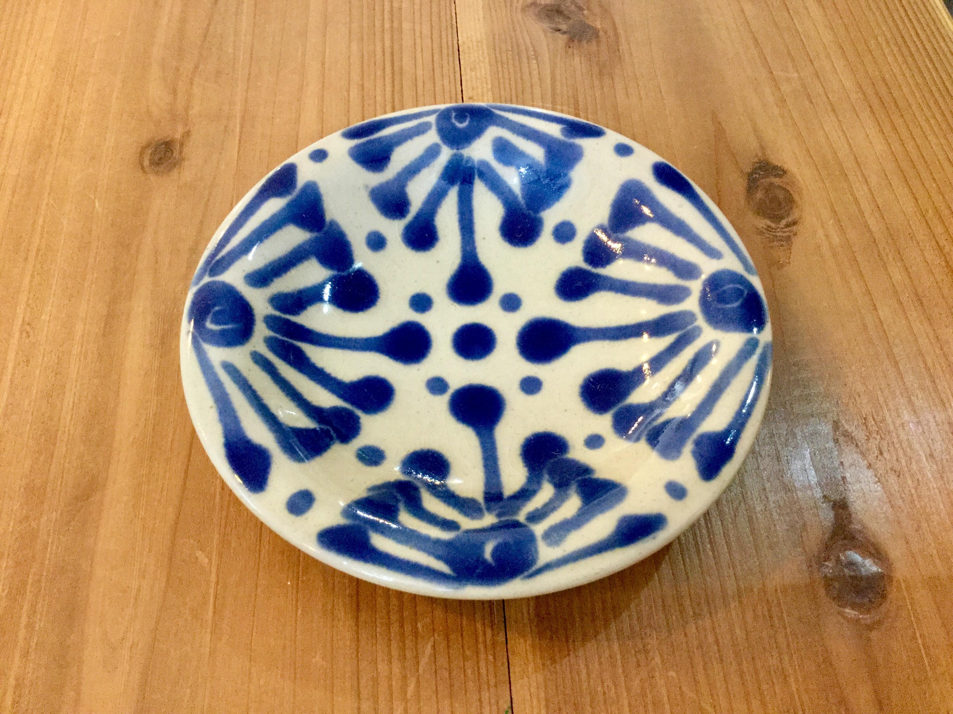 皿6寸 コバルト ノモ陶器製作所