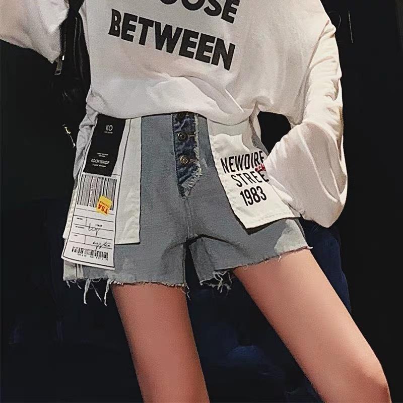 label reversi short pants