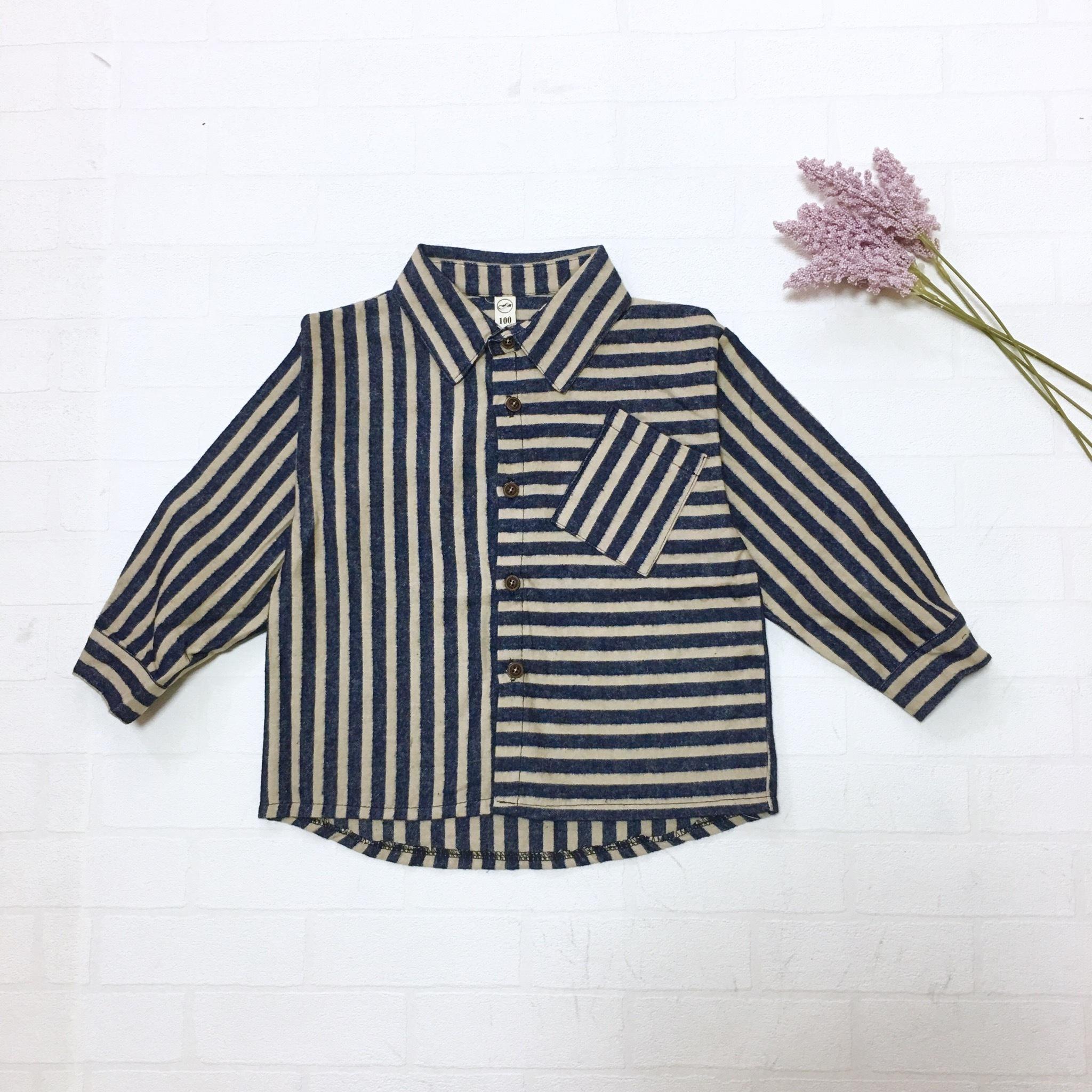 マルチストライプネルシャツ【T096】