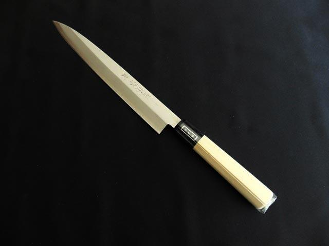 Tadasuke Yanagi Left-Handed Knife Stainless Gold 240mm