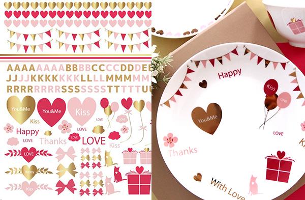 ハート&ロゴ Heart&Logo A3サイズ (ポーセリンアート用転写紙)