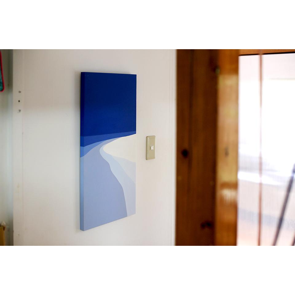 「海の音」acrylic on panel 674×319×24mm