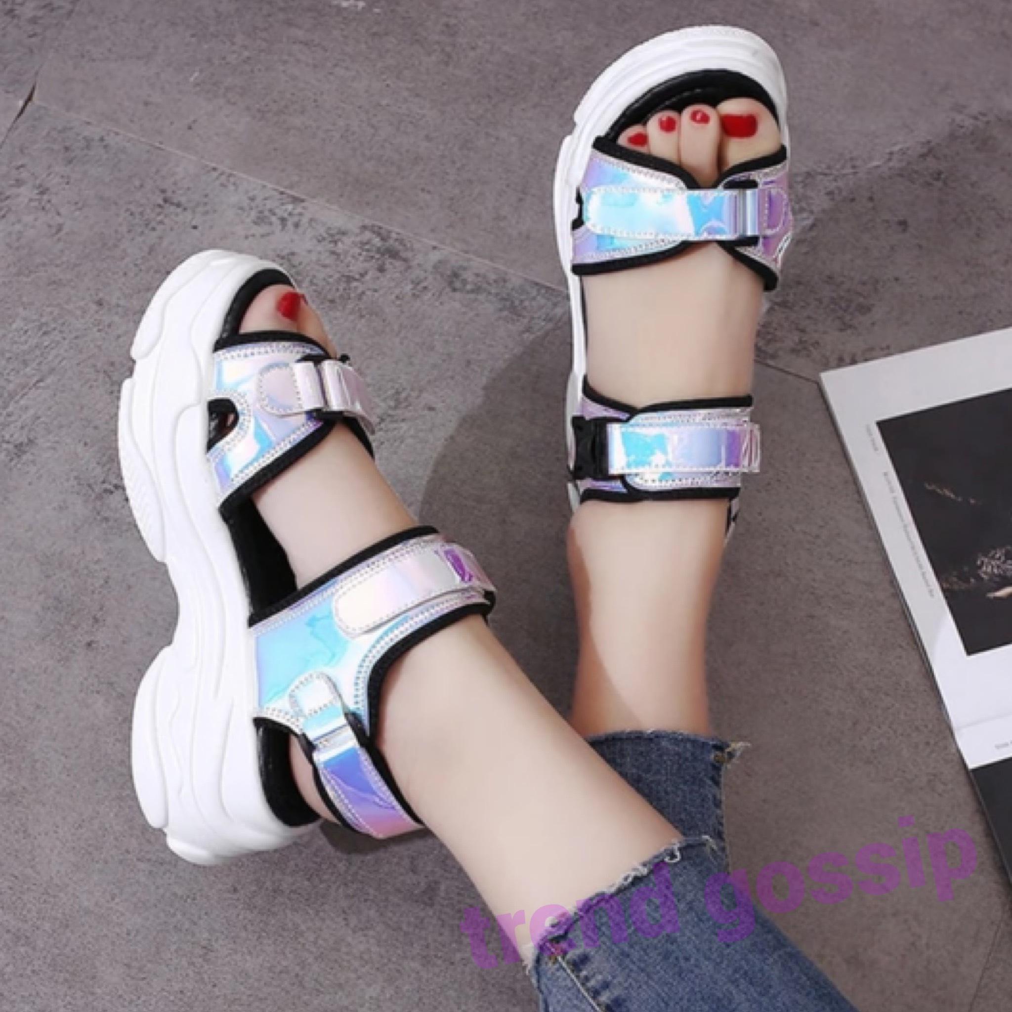 ユニコーンカラーベルトスポーティーサンダル/靴/22.5〜24.5cm/SS