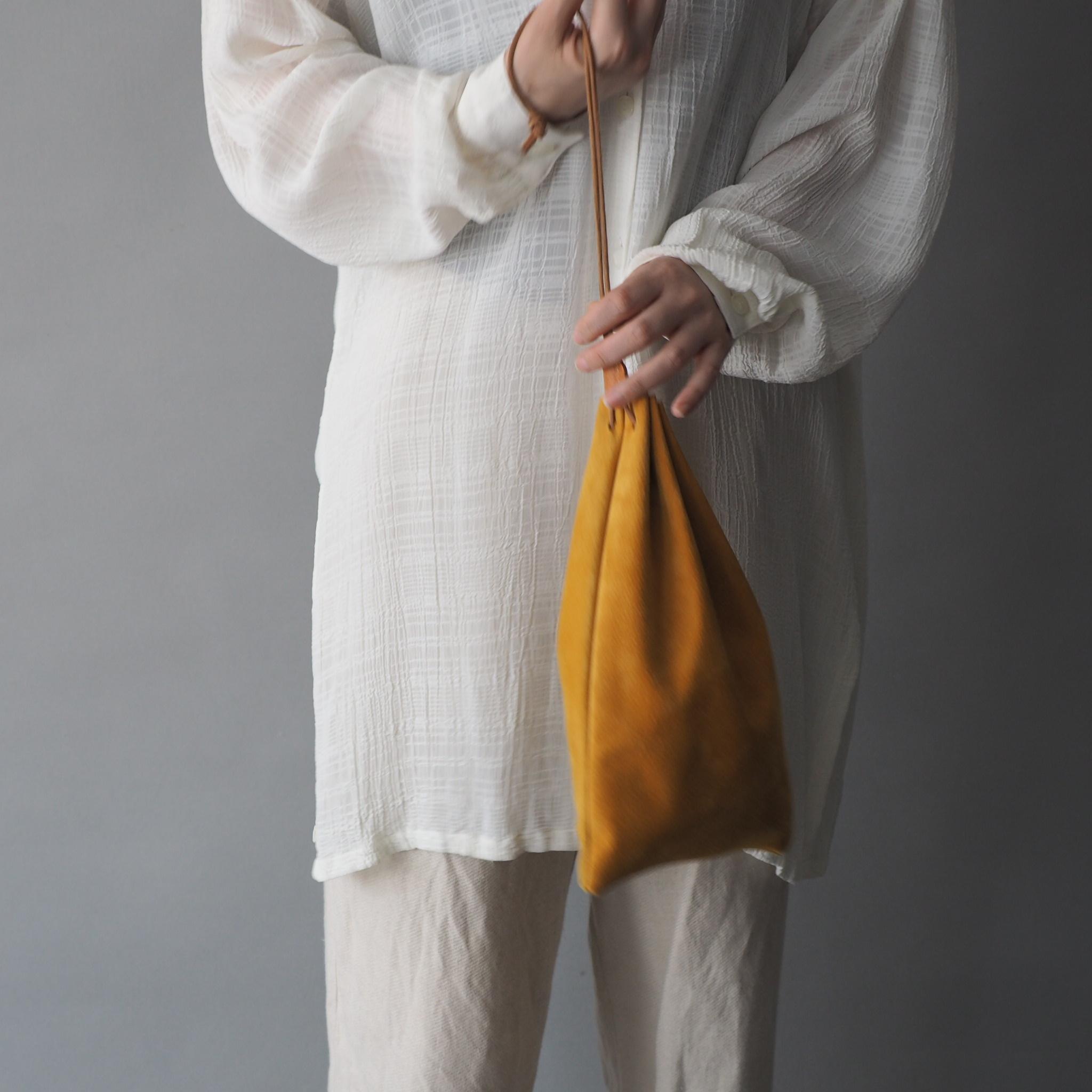"""Utility Bag"" 大人のためのレザー巾着 -カラフルなスウェード - 画像2"