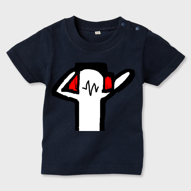 anotherDJ お子様用ネイビーTシャツ キッズ80 - 画像1