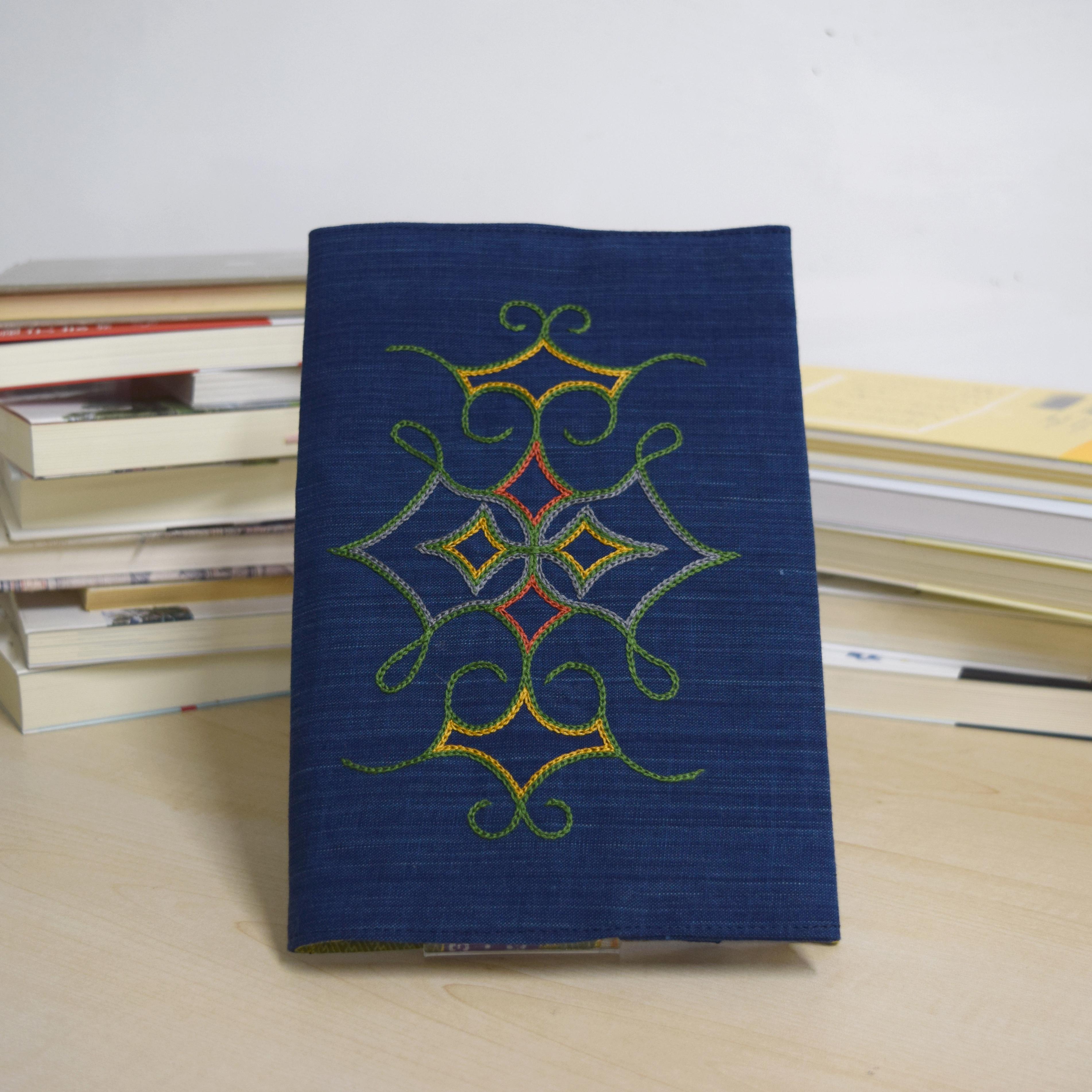 ブックカバー(大)   book cover(L) 【さっぽろアイヌクラフト】