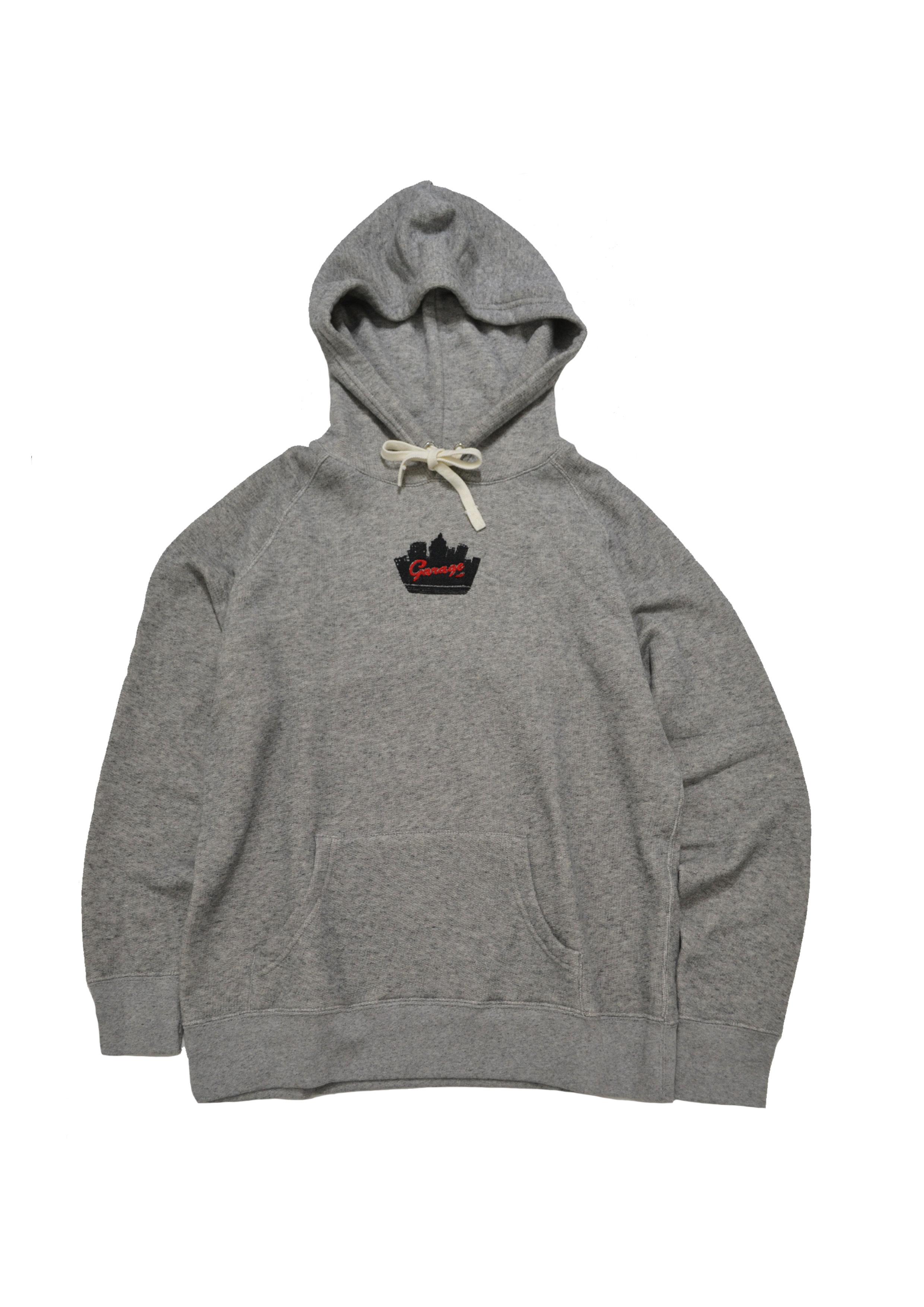 Silhouette logo hoodie Gray