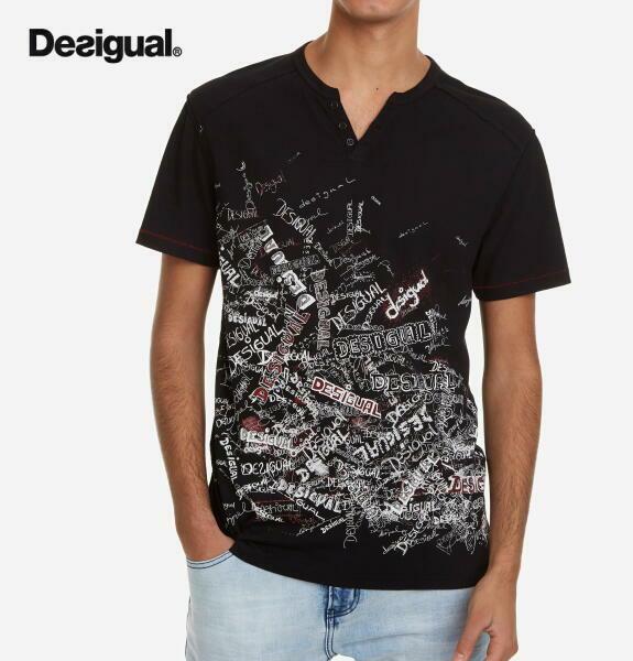 Desigual デシグアル メンズ トップス 半袖 プリント Tシャツ ロゴマニアTシャツRALF【正規取扱店】
