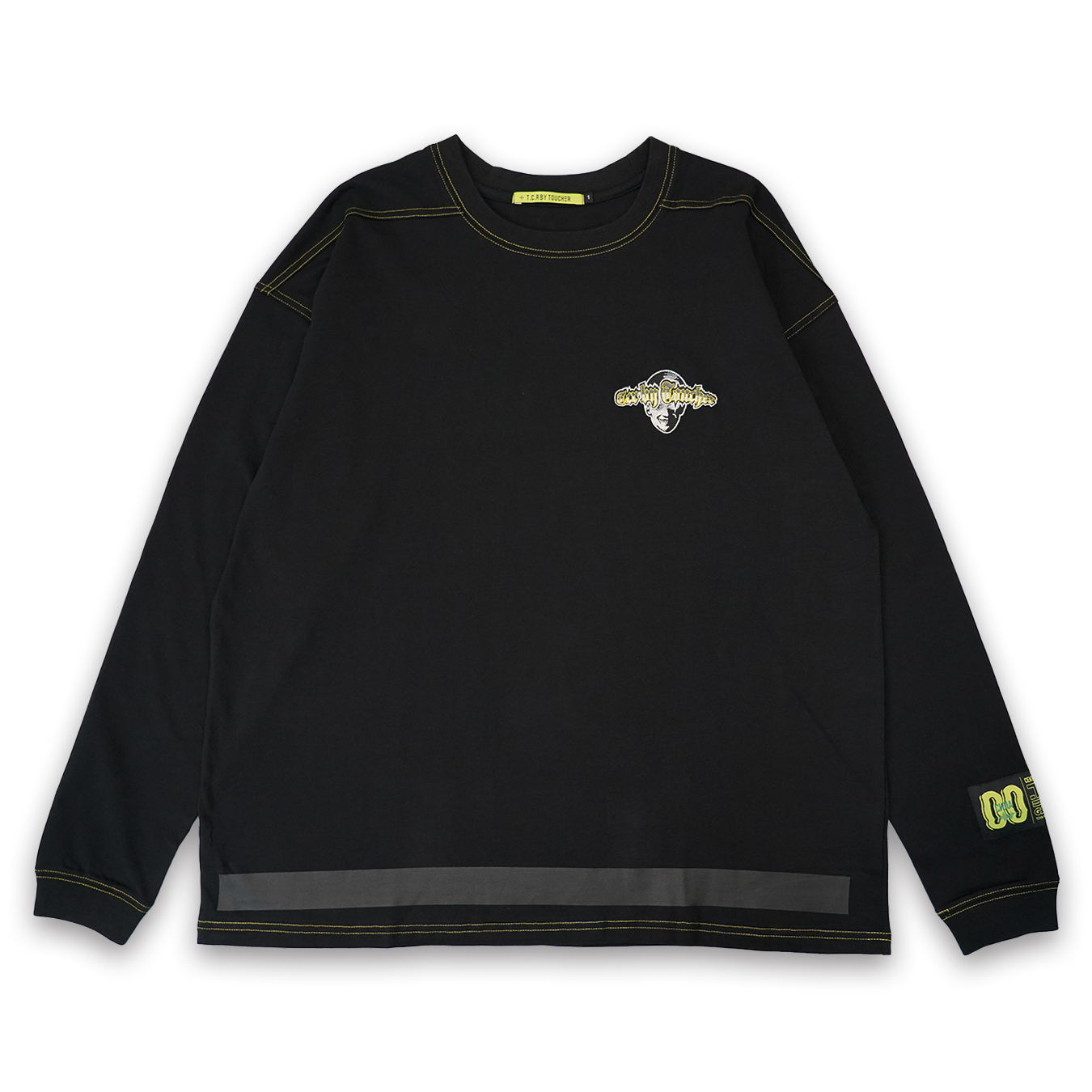 T.C.R EXTREME EMBROIDERY LOGO L/S TEE - BLACK