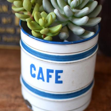 ベルギー St.SERVAIS社 ホーローキャニスター CAFE