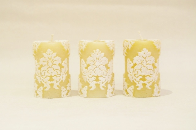Orchid Votives Set of 3/White