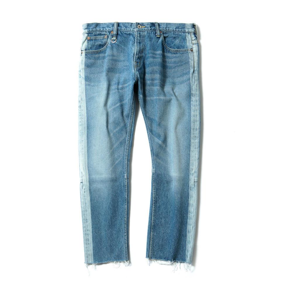 MAGIC STICK CUT OFF FADE Jeans BLUE