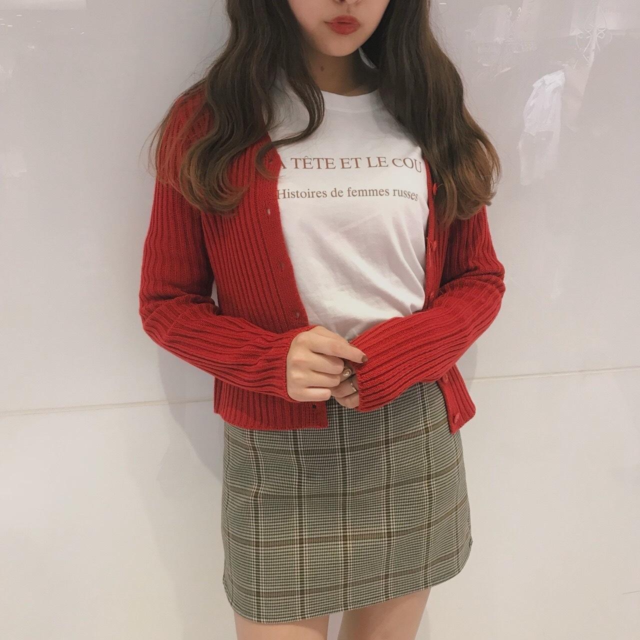 check a line skirt