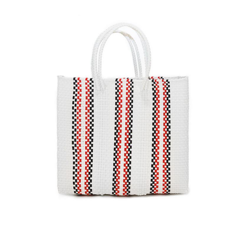 MERCADO BAG QUERDAS-White × Red × Black (S)