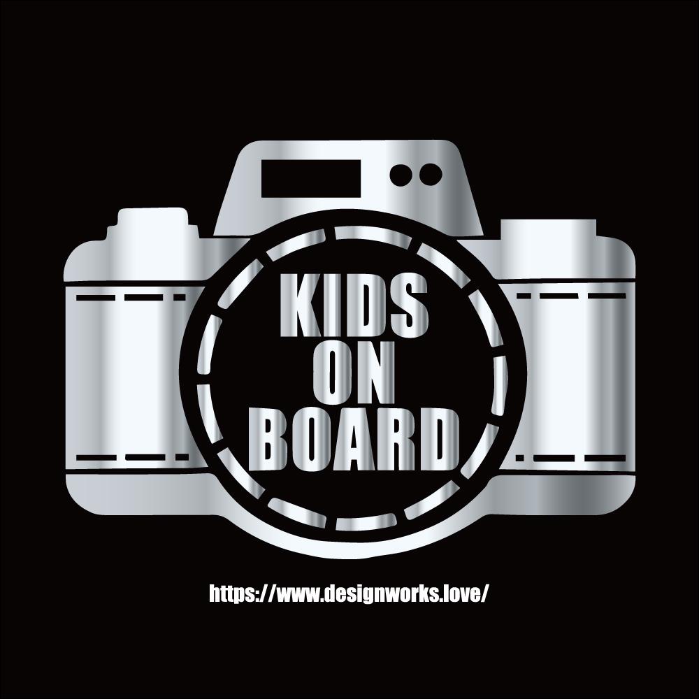 全10色 KIDS ON BOARD カメラ ステッカー