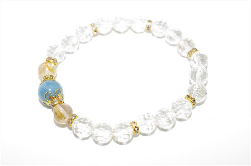 Aquamarine Birthstone(3月誕生石)【パワーストーンブレスレット 】 - 画像2