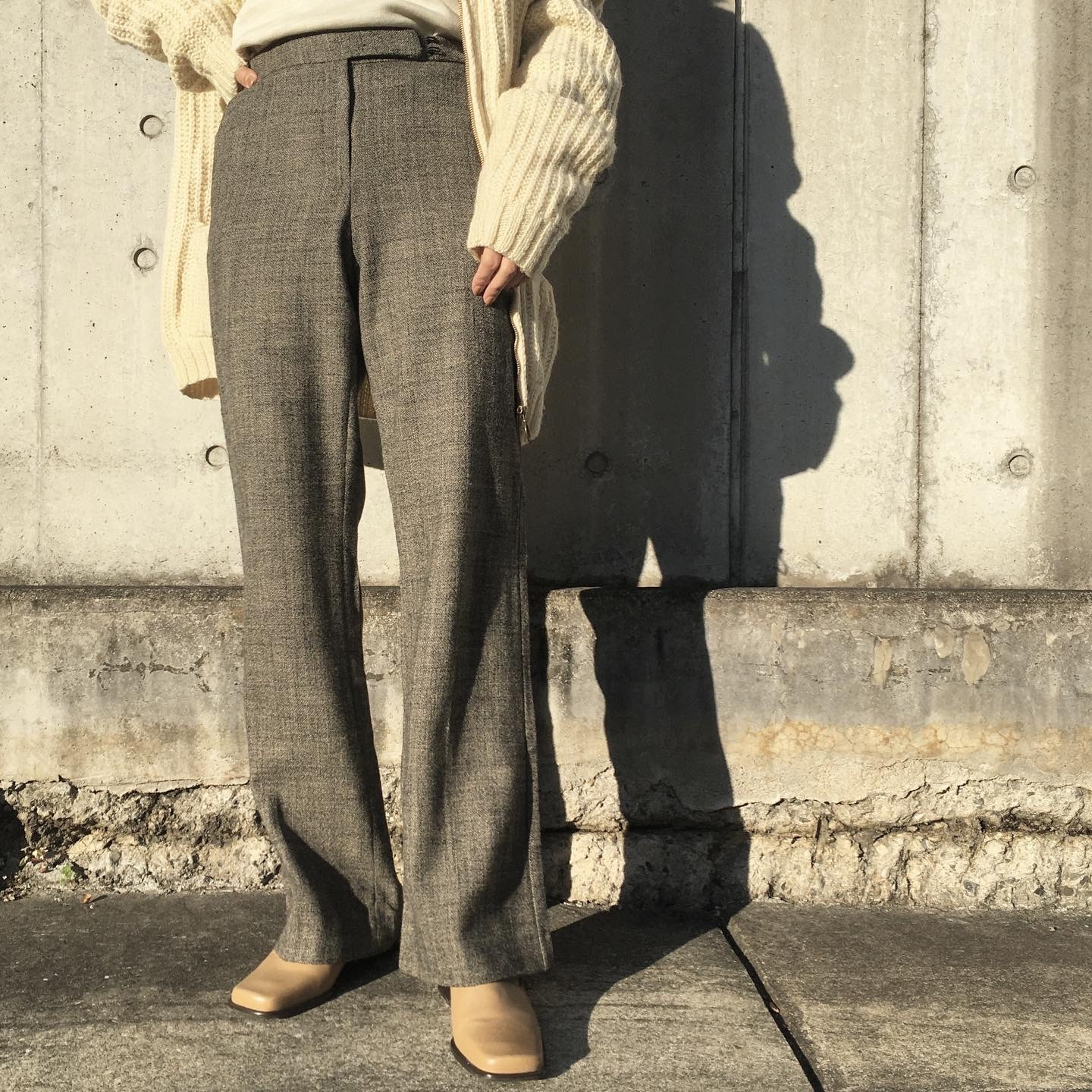 "USED "" wool double hock slacks pants """