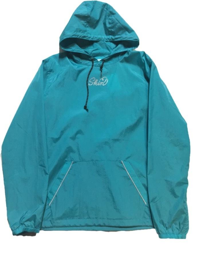 SKIN / nylon hoodie(blue) - 画像1