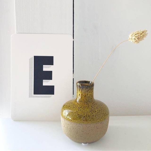 """ceramic Flower vase """"Mona"""" フラワーベース・花瓶・一輪挿し"""