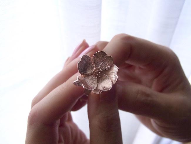 Fiori/桜のシルバーリング/RG(ローズゴールド)