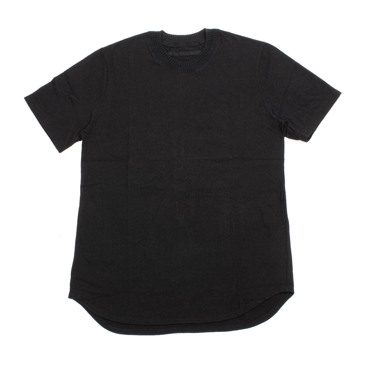 717CUM10-BLACK / ニットカラーTシャツ