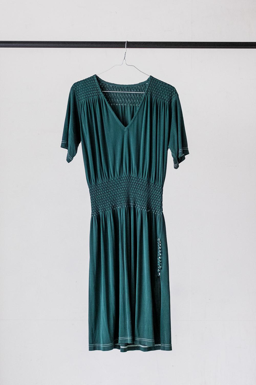 90s Jersey Smocking Dress