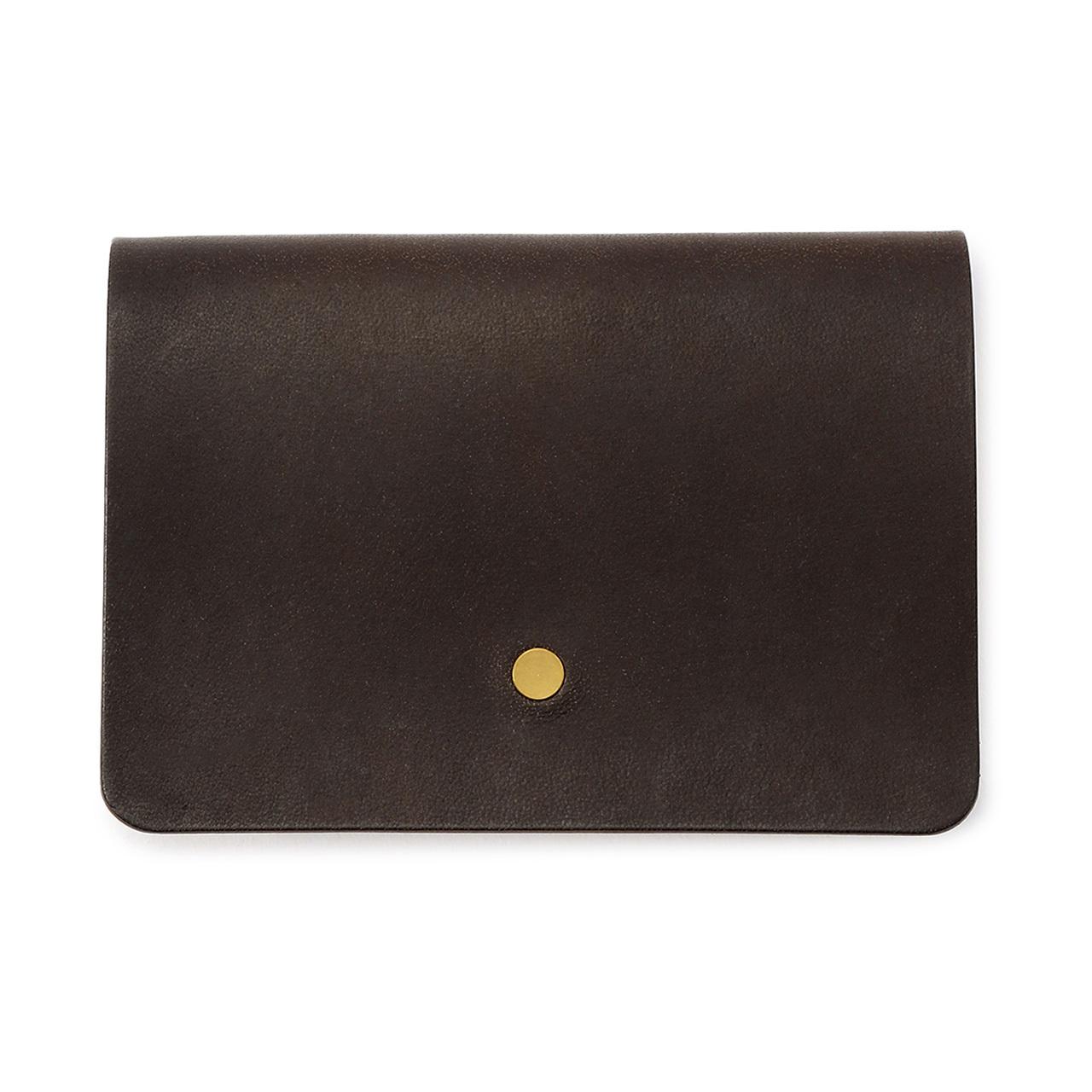 forme Hand wallet Liscio dark brown