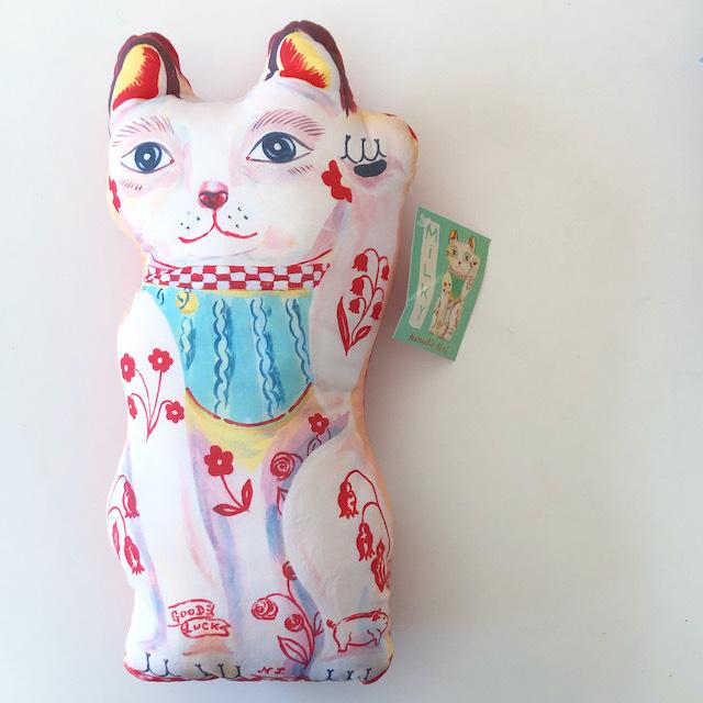 "Nathalie Lete ""Milky Lucky Cat"" ナタリーレテ 招き猫 人形 ドール"