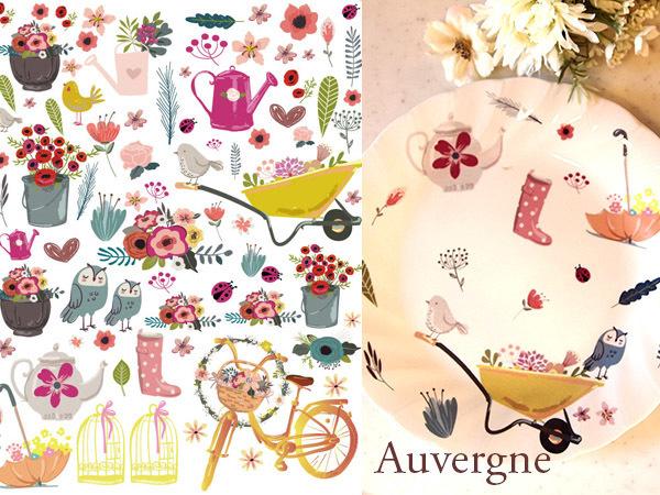 Auvergneオーベルニュ転写紙