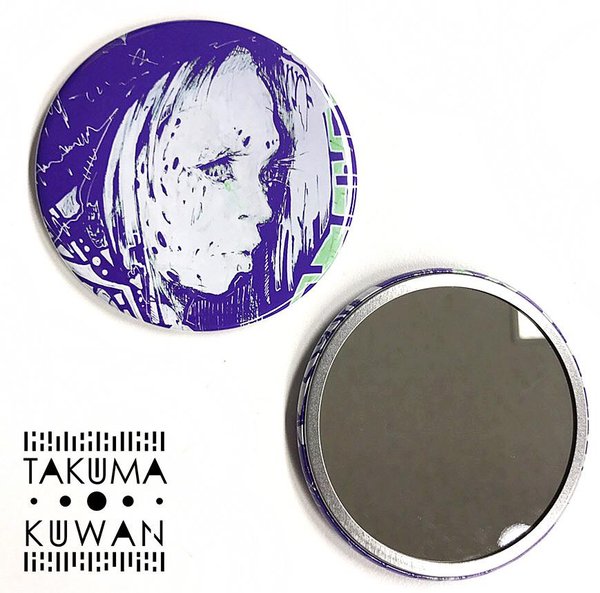 【拓磨クワン】76mm缶バッチミラー[スペクター]