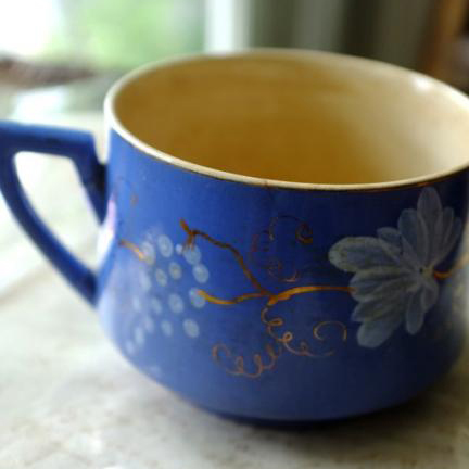 DIGOIN Sarreguemines ブルーのカップ