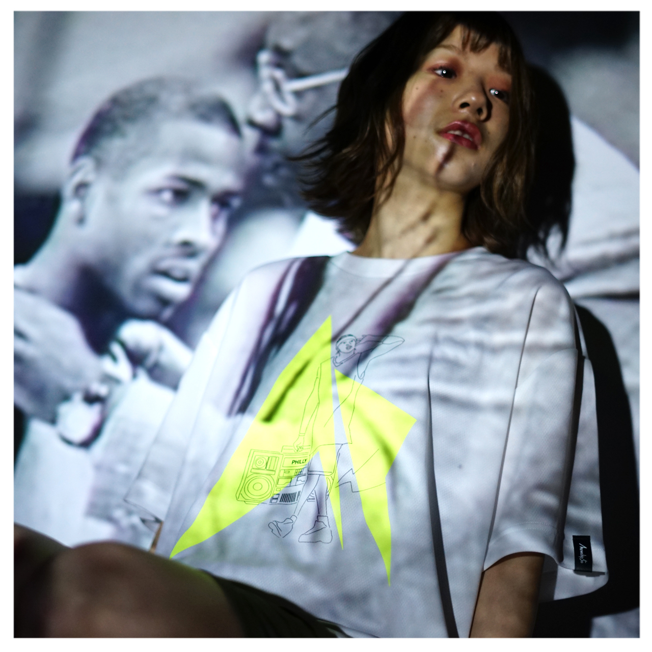 HipHop Philly S/S PL <White×Black×F.Yellow> - 画像3