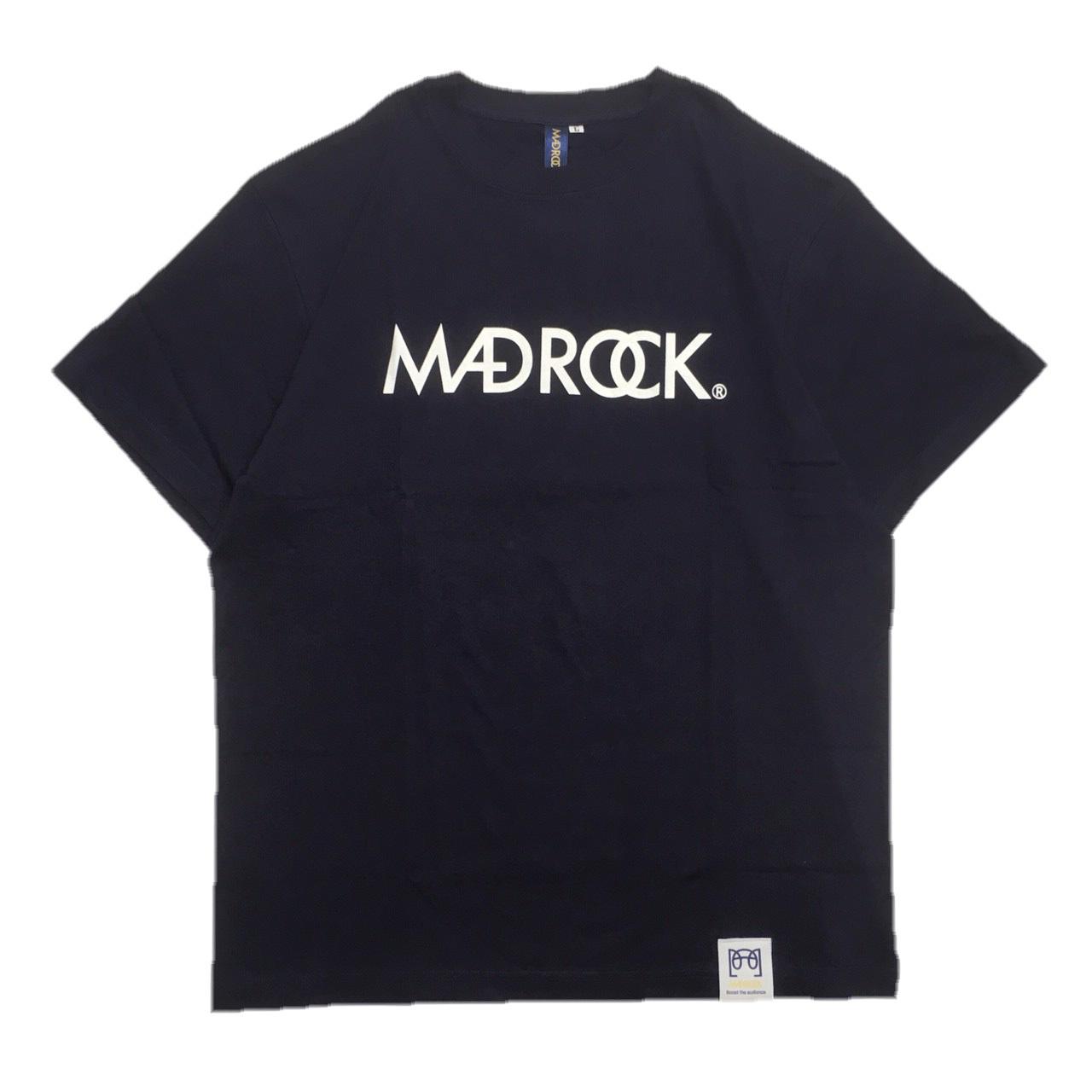 マッドロックロゴTシャツ/コットン/ネイビー