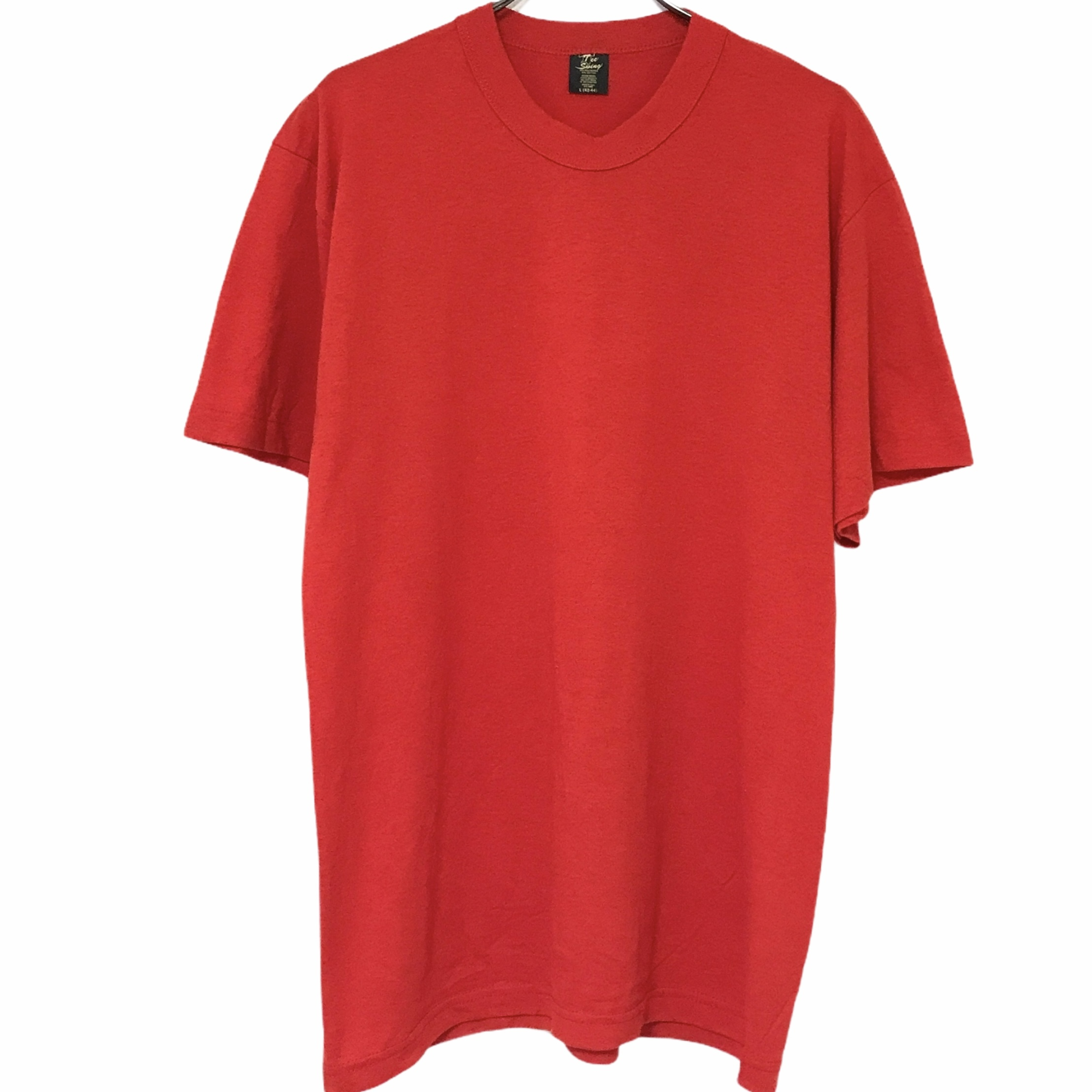 Dead Stock! 80's Tee Swing T-shirt made in USA Red
