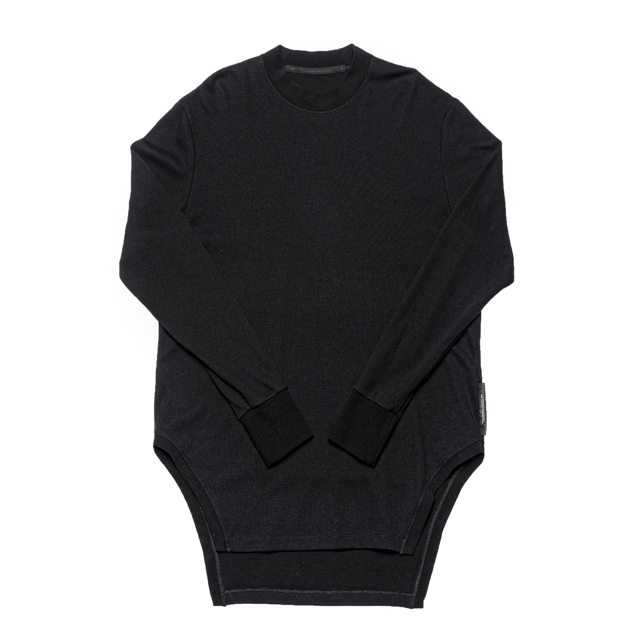 687CUM12-BLACK / フレイムドヘムシャツ