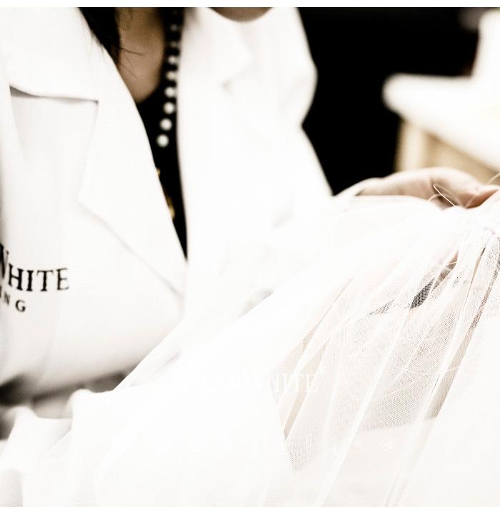 【DearWhiteオーダーメイド】ウエディングベール 結婚式のマストアイテムのウェディングヴェール  TS0001