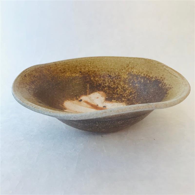 田山陶房12-19 焼〆浅鉢(小)
