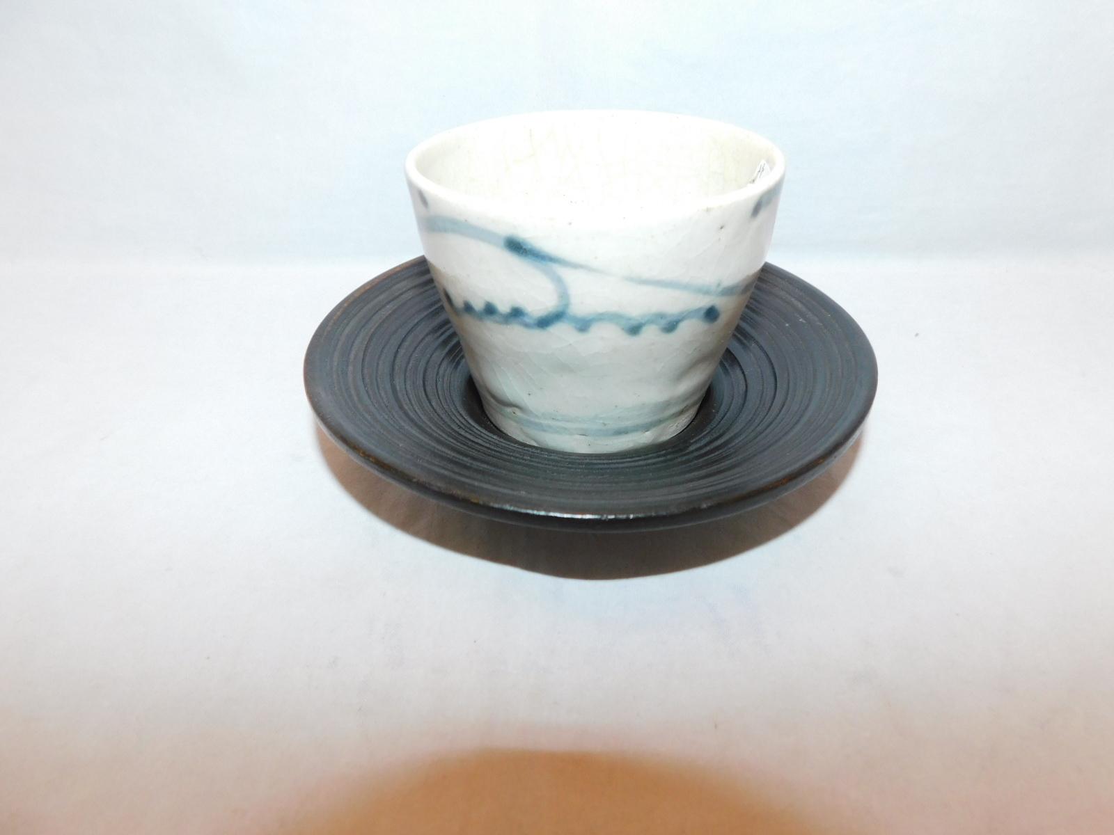 日の丸茶托(5客)  wooden Japanese tea five saucers (No15)