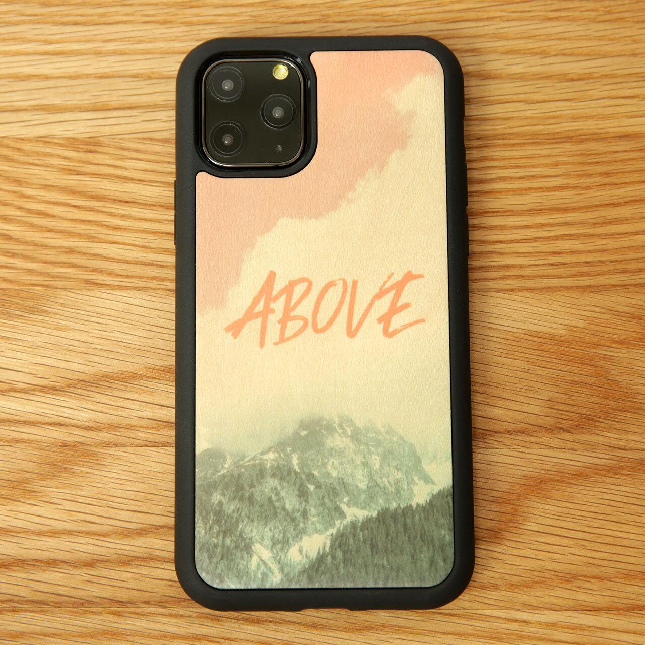 """ウッドiPhoneケース """"ABOVE"""" 【各機種対応】"""