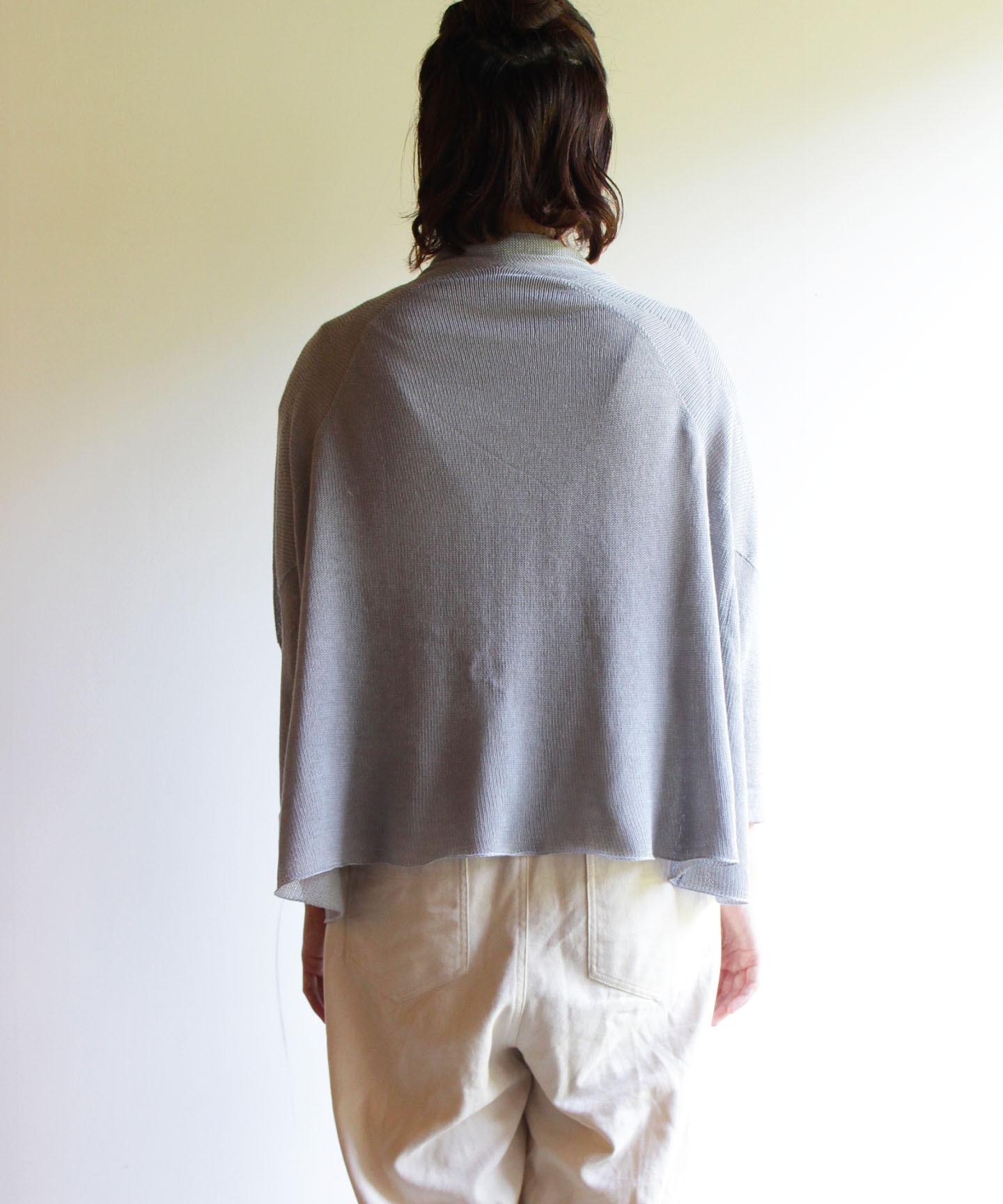 【予約販売】手編み機で編んだコットンシルクカシミヤ糸のカーディガン(CSC-415)