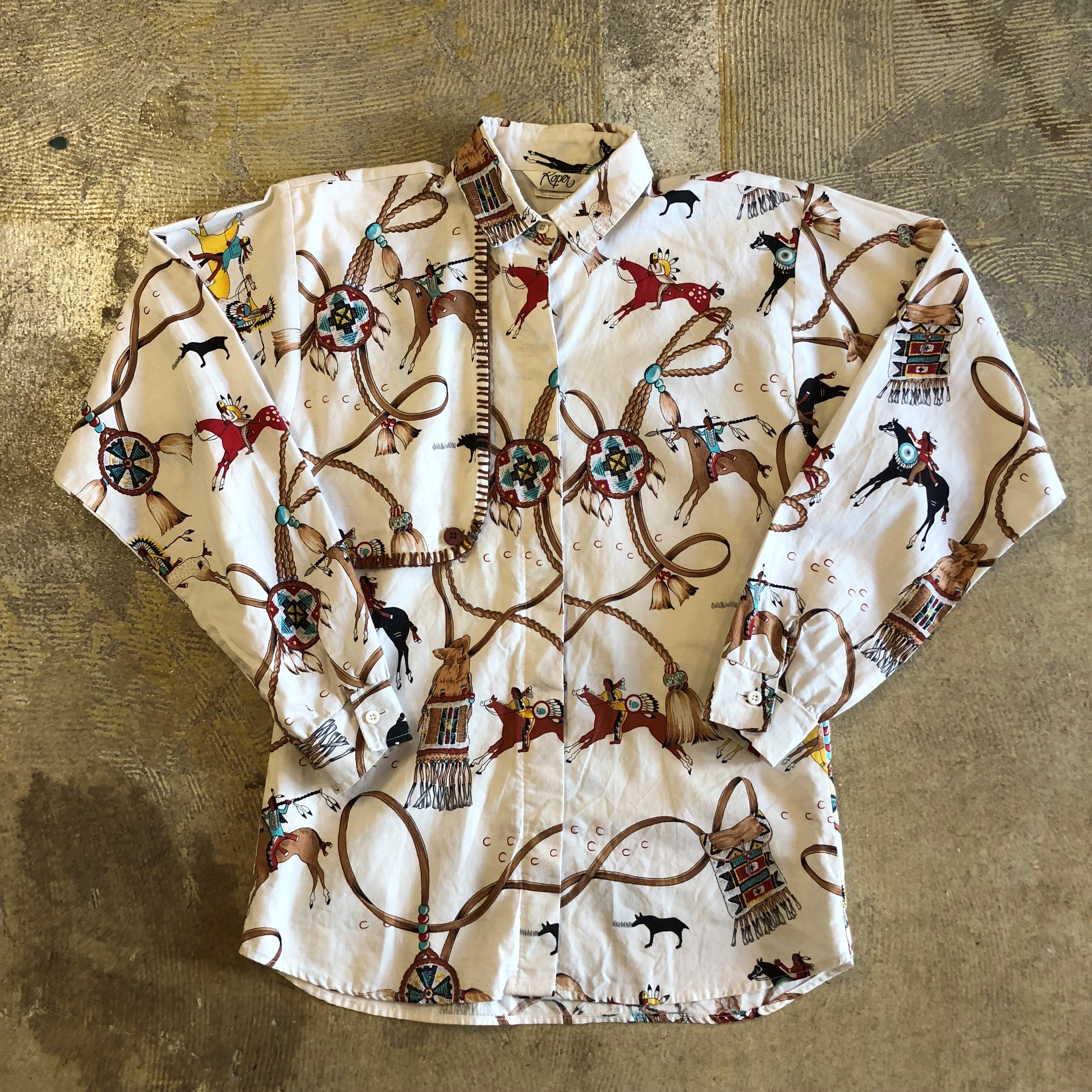NATIVE AMERICAN PRINT SHIRT #TP-203