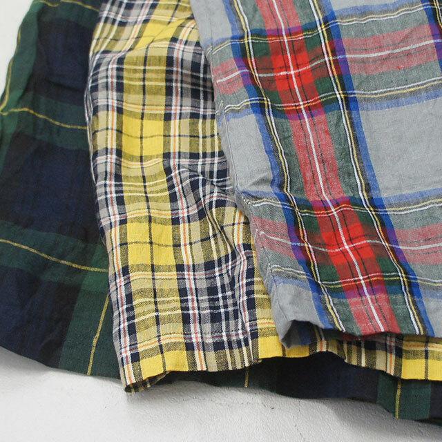 【再入荷なし】  ICHIAntiquites イチアンティークス LINEN TARTAN CHECK PANTS リネンタータンチェックパンツ (品番500315)