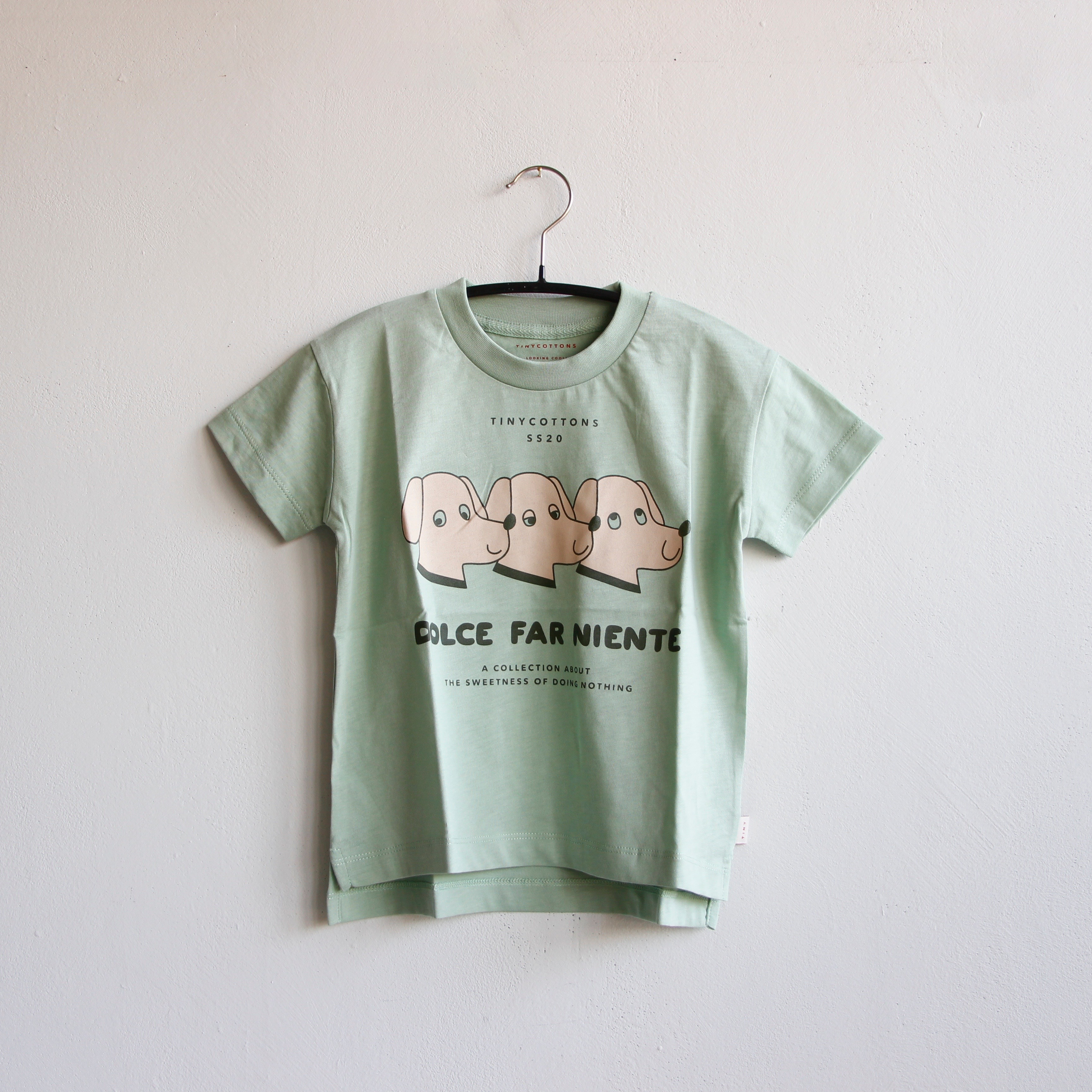 《TINYCOTTONS 2020SS》DFN DOGS TEE / pistacchio × light nude