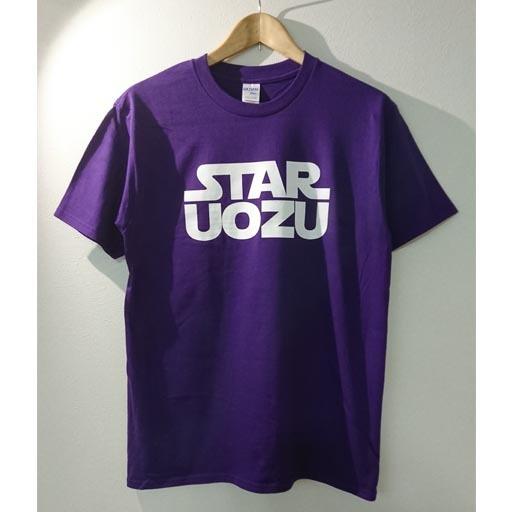 STAR UOZU Tシャツ パープル×ホワイト
