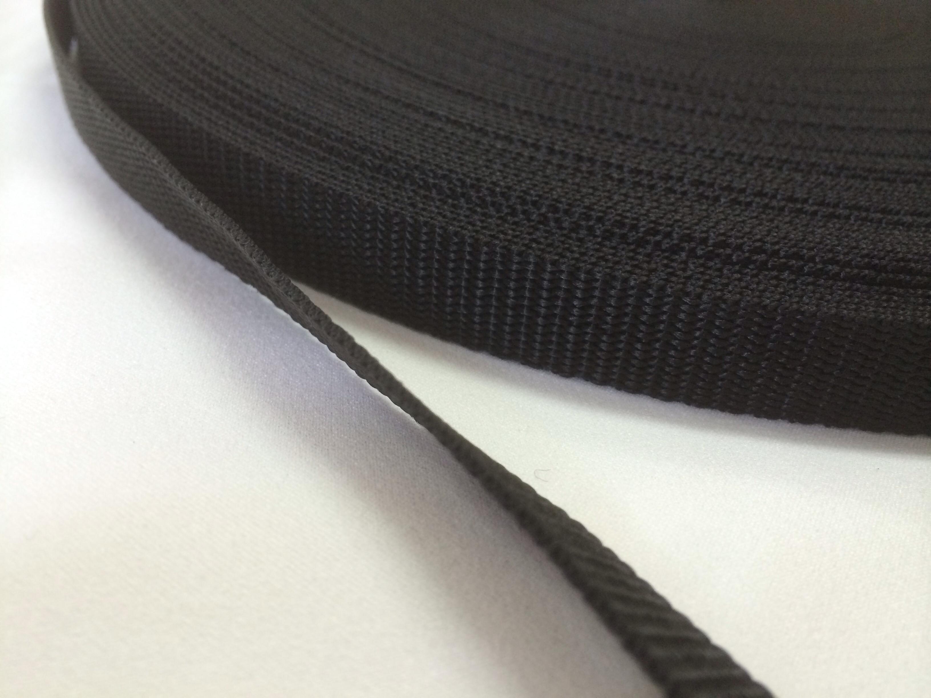 PPテープ 16mm幅 1.2mm厚 黒 1m