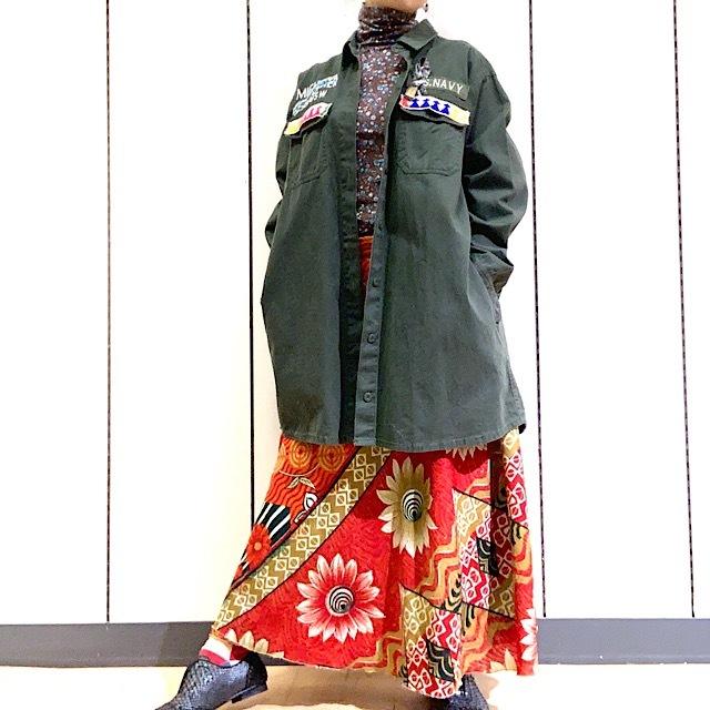 drm-051 リメイク長丈ミリタリーシャツ